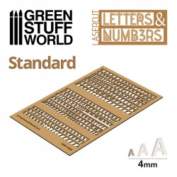 Letters and Numbers 6 mm, standard.