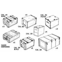US Small arms ammo boxes. VERLINDEN 0088
