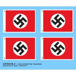 German WWII flags.
