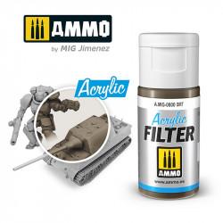 Acrylic filter. Dust (15 ml).