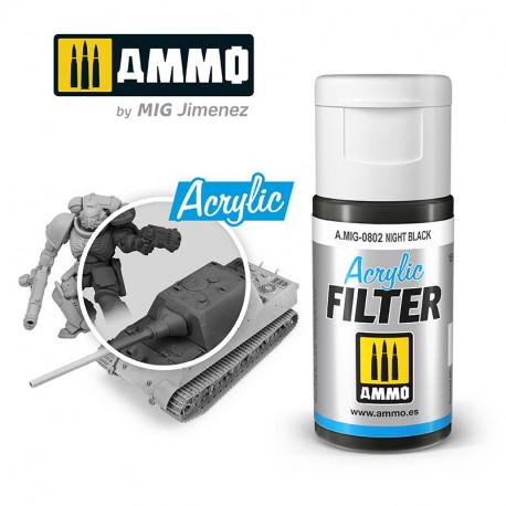 Acrylic filter: night black. 15 ml.