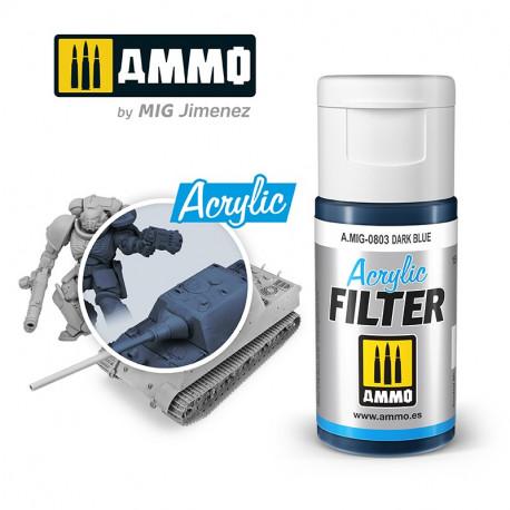 Acrylic filter: dark blue. 15 ml.
