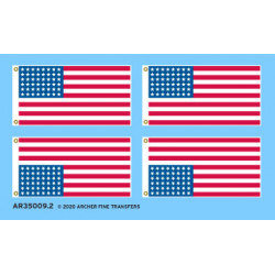 US WWII flags.