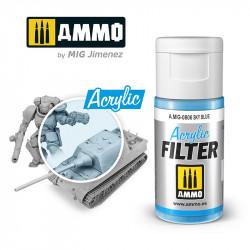 Acrylic filter: sky blue. 15 ml.
