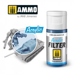 Filtro acrílico: azul marino. 15 ml.