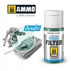 Acrylic filter: turquoise. 15 ml.