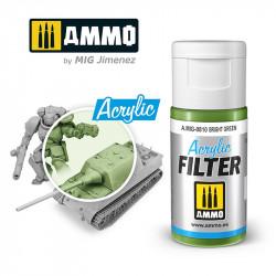 Filtro acrílico: verde brillante. 15 ml.