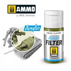 Acrylic filter: yellow green. 15 ml.