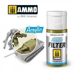 Filtro acrílico: verde oliva. 15 ml.