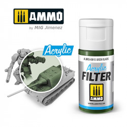Acrylic filter: green black. 15 ml.