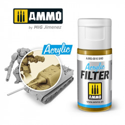 Acrylic filter: sand. 15 ml.