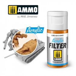 Acrylic filter: orange. 15 ml.