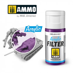 Filtro acrílico: violeta. 15 ml.