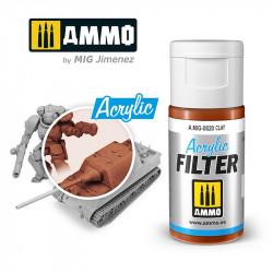 Filtro acrílico: arcilla. 15 ml.