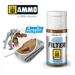 Filtro acrílico: óxido. 15 ml.