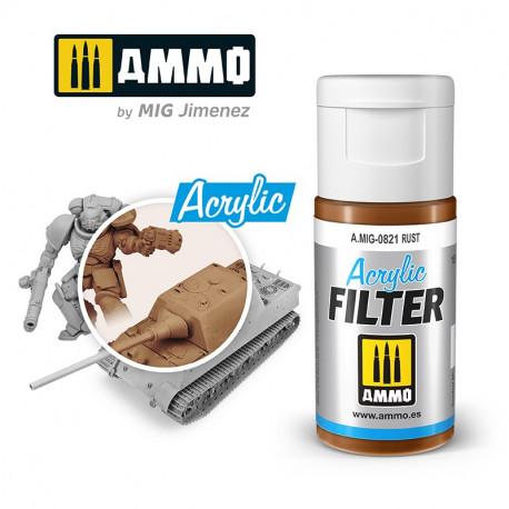 Acrylic filter: rust. 15 ml.