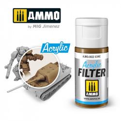 Acrylic filter: ochre. 15 ml.