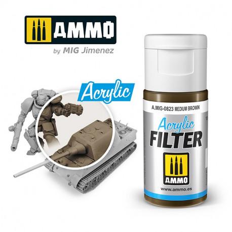 Acrylic filter: medium brown. 15 ml.