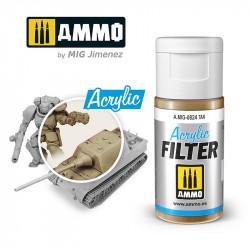 Acrylic filter: tan. 15 ml.