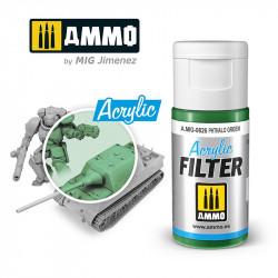 Filtro acrílico: verde phthalo. 15 ml.