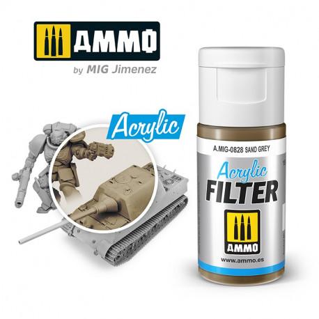 Acrylic filter: sand grey. 15 ml.