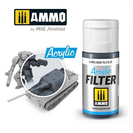 Acrylic filter: pale blue. 15 ml.
