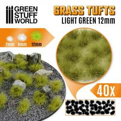 Grass tufts, light green. 12 mm.