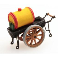 Oil pushcart.