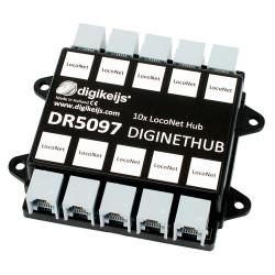 DigiNetHub: 5x Loconet and 5x X-BUS hub.