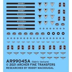 Distintivos de uniforme del ejército para tripulaciones de tanques.