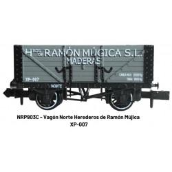 """Vagón de bordes altos """"Ramón Múgica""""."""