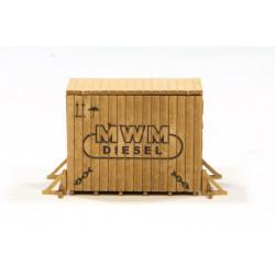 Volvo wooden box.