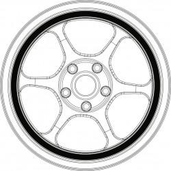 SB RG tire and wheel set.