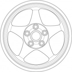 Spoon SW388 tire and wheel set.
