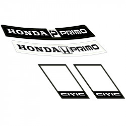 Hoja de vinilos Honda Primo.