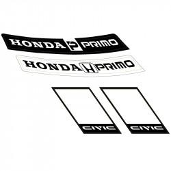 Honda Primo vinyl sheet.