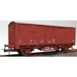 RENFE closed wagon red.