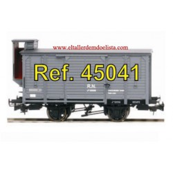Two axle RENFE closed waggon with brake.