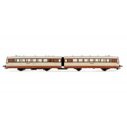 Diesel railcar 'Ferrobus' 591.300, RENFE. Brown/cream livery. Digital.