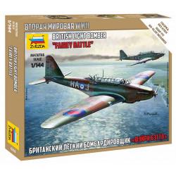 """Bombardero ligero británico """"Fairey Battle""""."""
