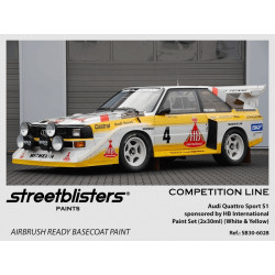 Audi Quattro Sport S1 HB Team paint set (2x30ml).