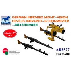 German infrared night-vision devices infrarot-Scheinwerfer.