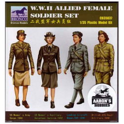 Set de soldados aliados femeninos, WWII
