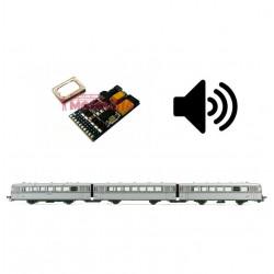 Digital decoder w/ sound for RENFE Ferrobus railcar.