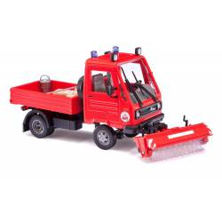 Multicar with sweeper vehicle.