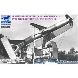 "German Rheinmetall ""Rheintochter"" R-2 anti-aircraft missiles."