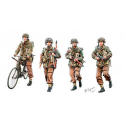 Paracaidistas británicos en acción (Set A), WWII.