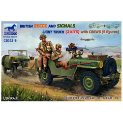 British recce and signals light truck with crew.