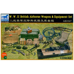 WWII British airbone weapon and equipment set.