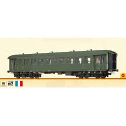 2nd class coach B9ti, SNCF.